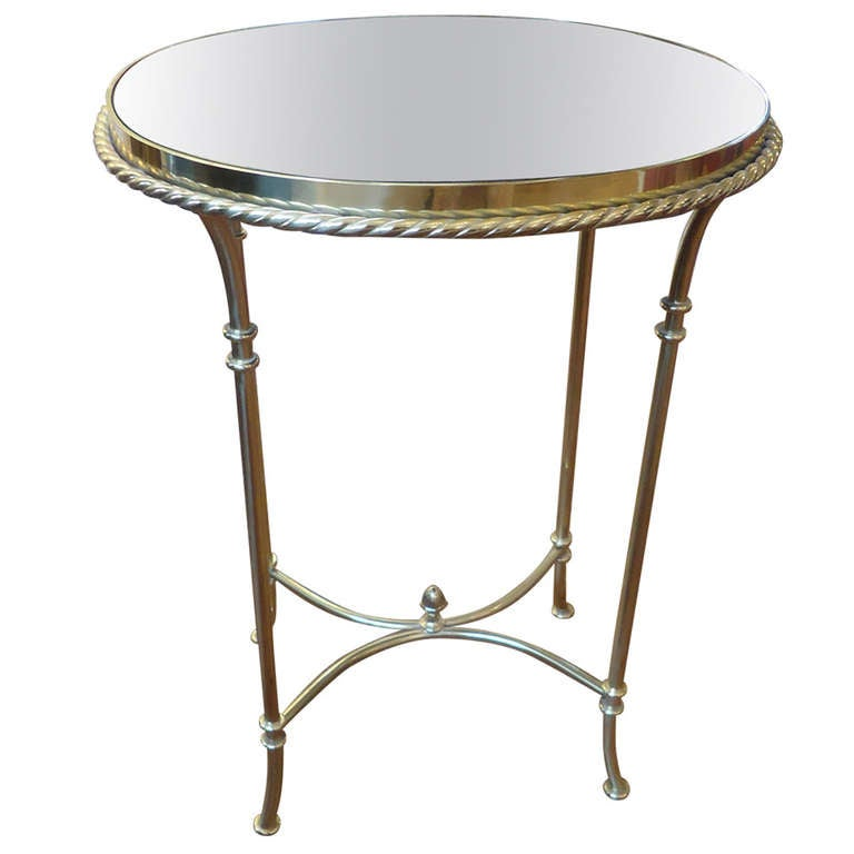 Smoky Pearl Furniture Painting Technique Captiva: Sparkly Little Brass And Smoked Mirror Drinks Table At 1stdibs