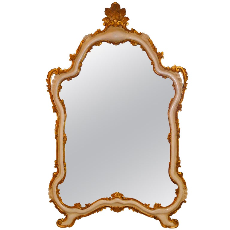 Vintage italian wood and gilded mirror at 1stdibs for Retro italian xxx