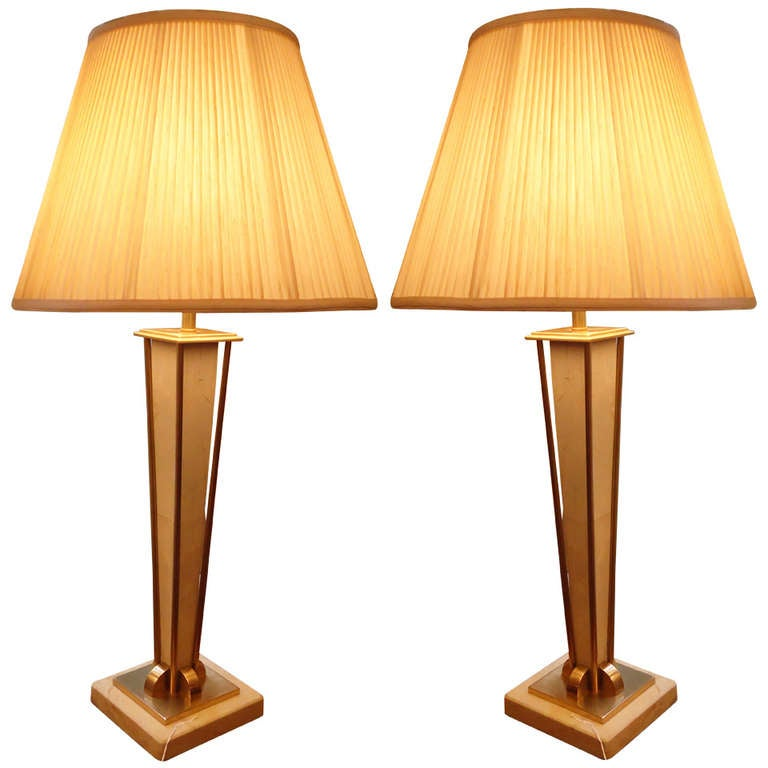 pair of glamorous frederick cooper lamps at 1stdibs