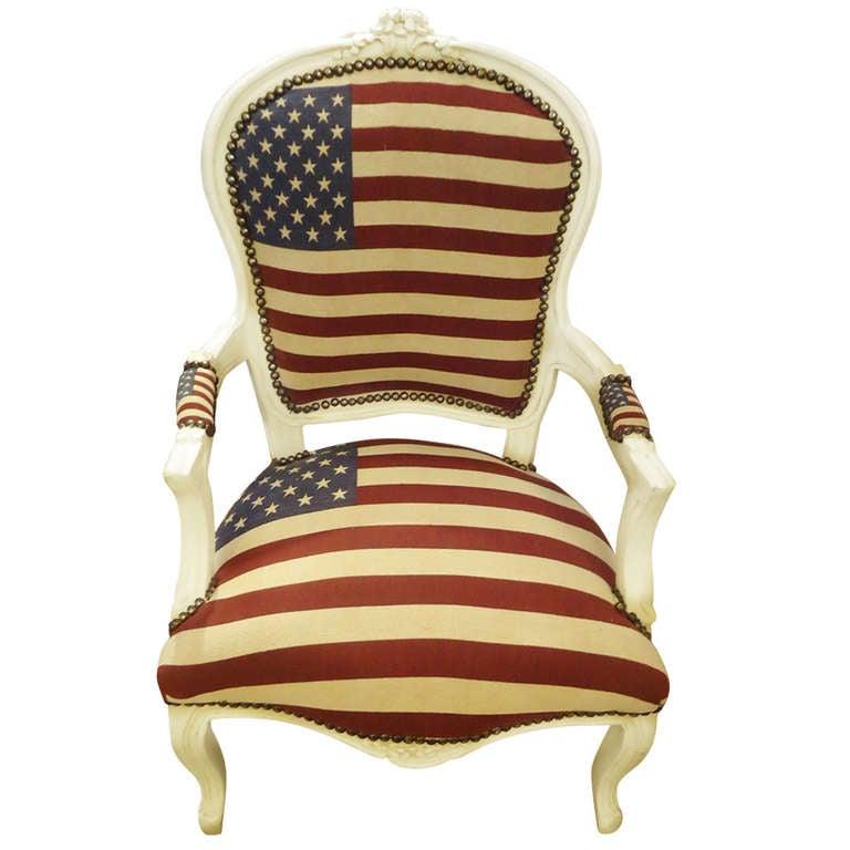 Bespoke Patriotic Painted Armchair 1