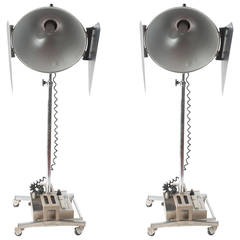 Pair of Vintage Industrial Photogenic Machine Company Studio Lights