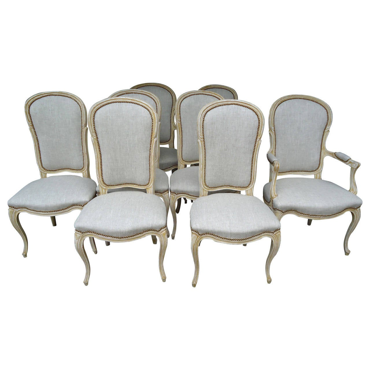 set of eight country french style dining chairs by baker at 1stdibs