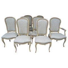 Set of Eight Country French Style Dining Chairs by Baker
