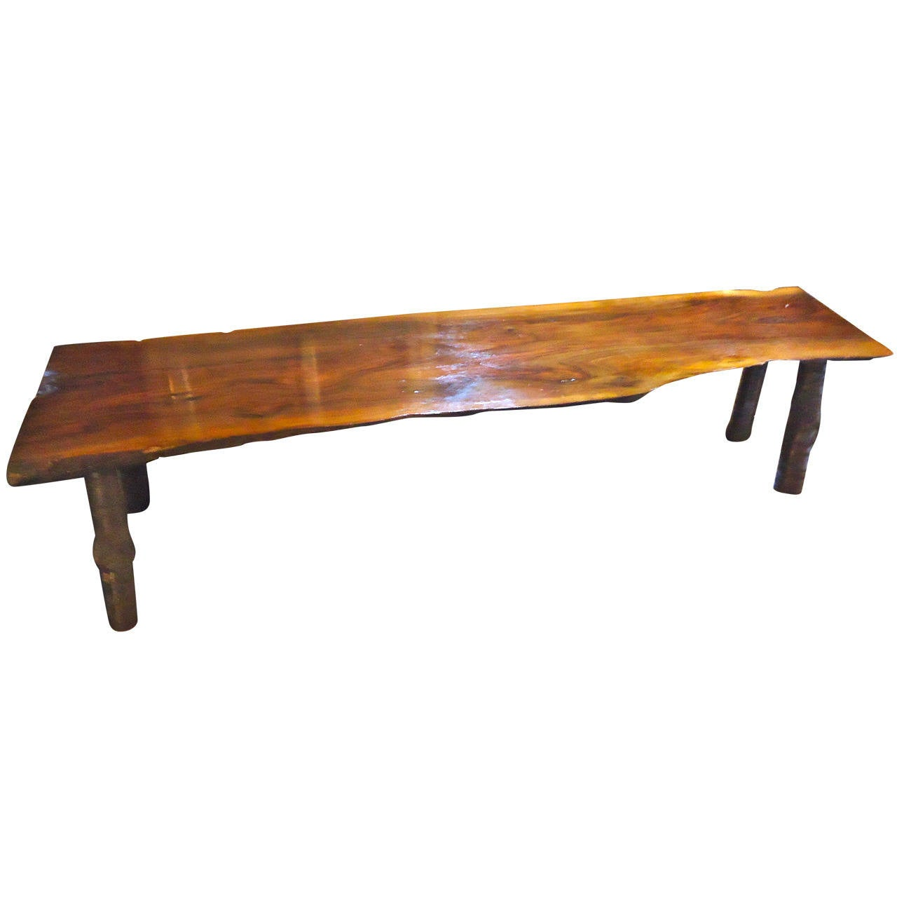 Nakashima style black walnut bench coffee table at 1stdibs nakashima style black walnut bench coffee table 1 geotapseo Gallery