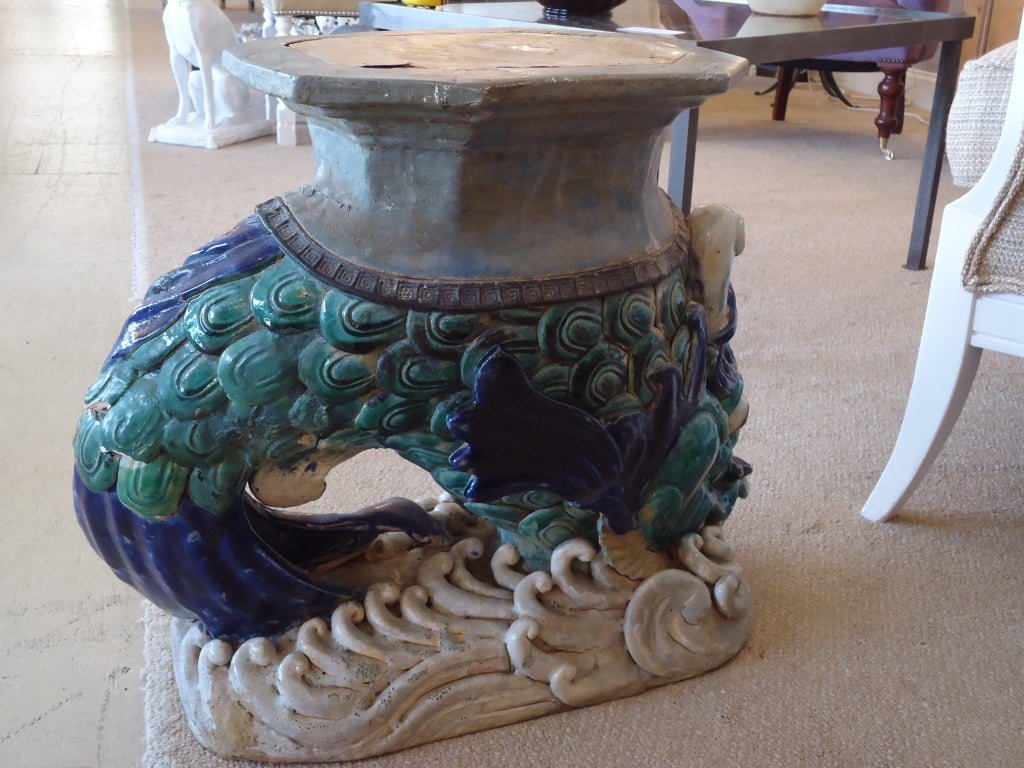Antique Chinese Dragon Garden Stool At 1stdibs