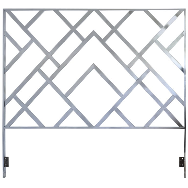Midcentury Modern Chrome Headboard