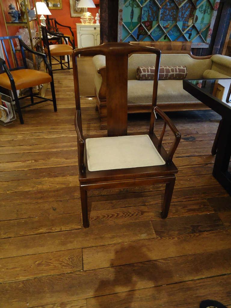 this set of mahogany henredon dining chairs is no longer available