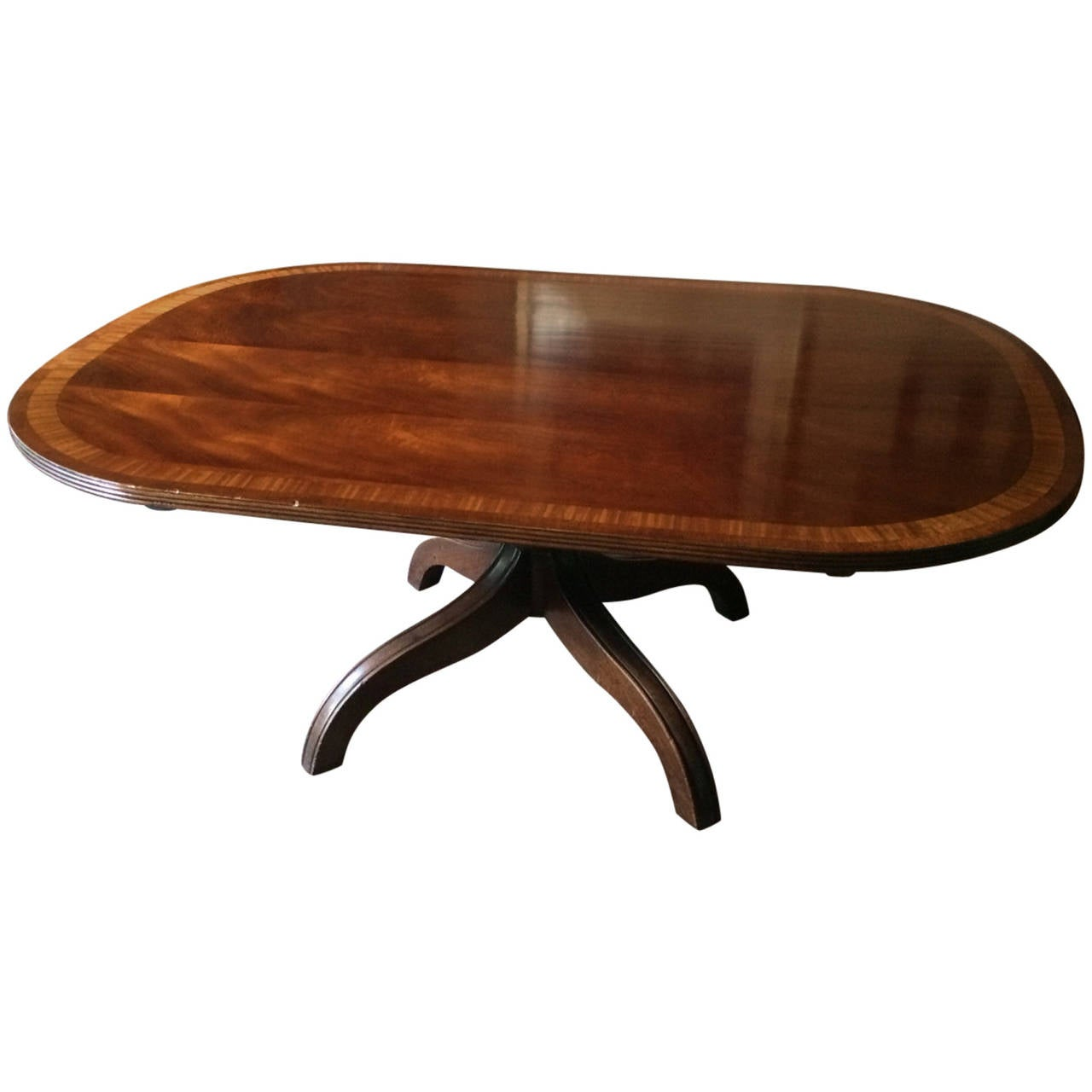 Antique mahogany and rosewood oblong coffee table at 1stdibs for Mahogany coffee table