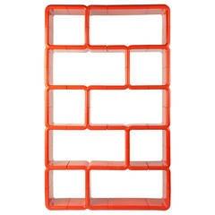 Orange Red Modular Plastic Umbo Bookshelf