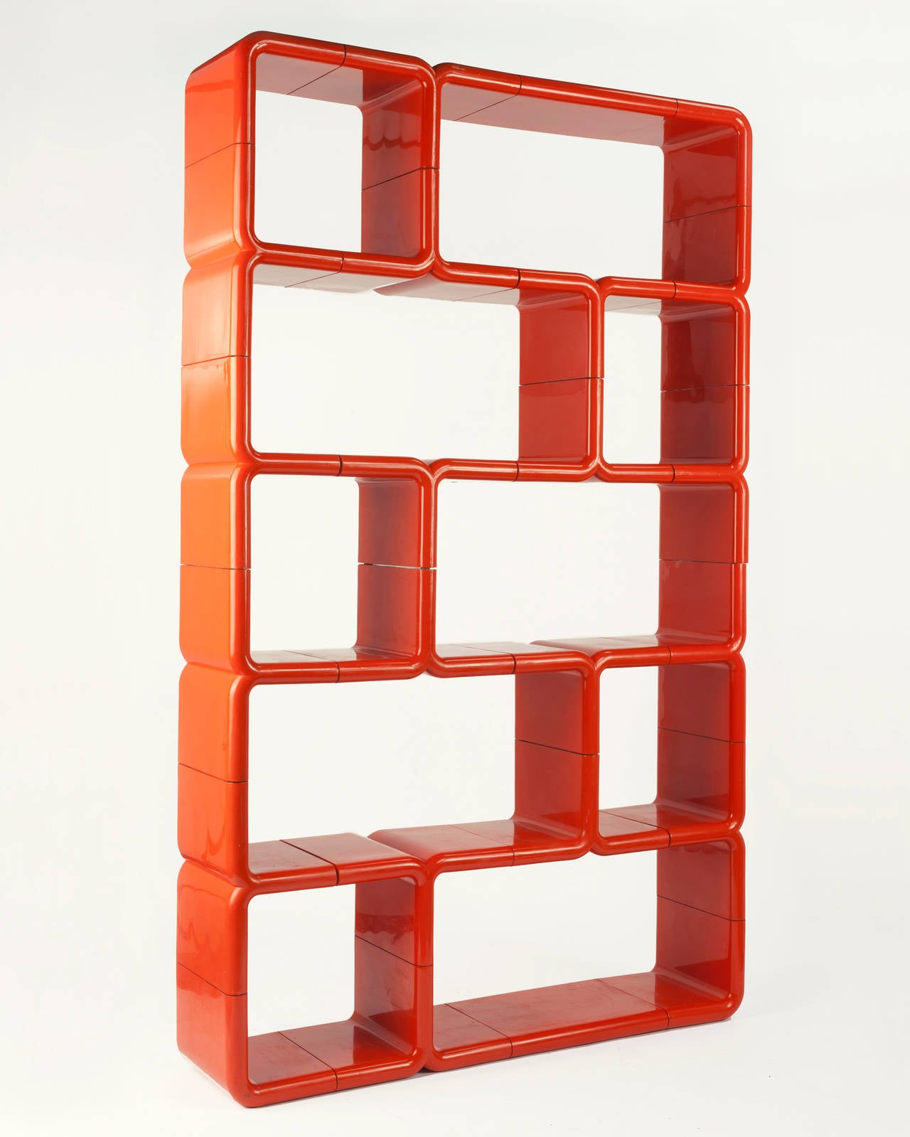 orange front angle wooden bookcase grande edit design the erika narrow bookshelf scandinavian products oak
