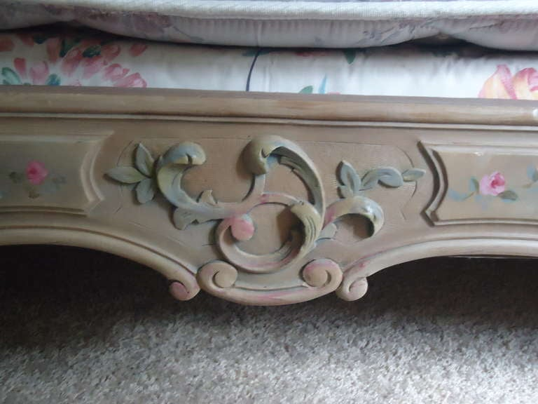 Wood French Antique Princess Bed For Sale