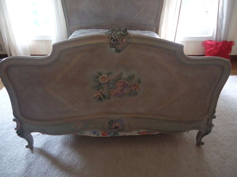 Carved French Antique Princess Bed For Sale