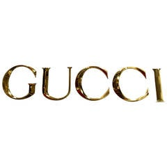Wonderful Brass Gucci Letters