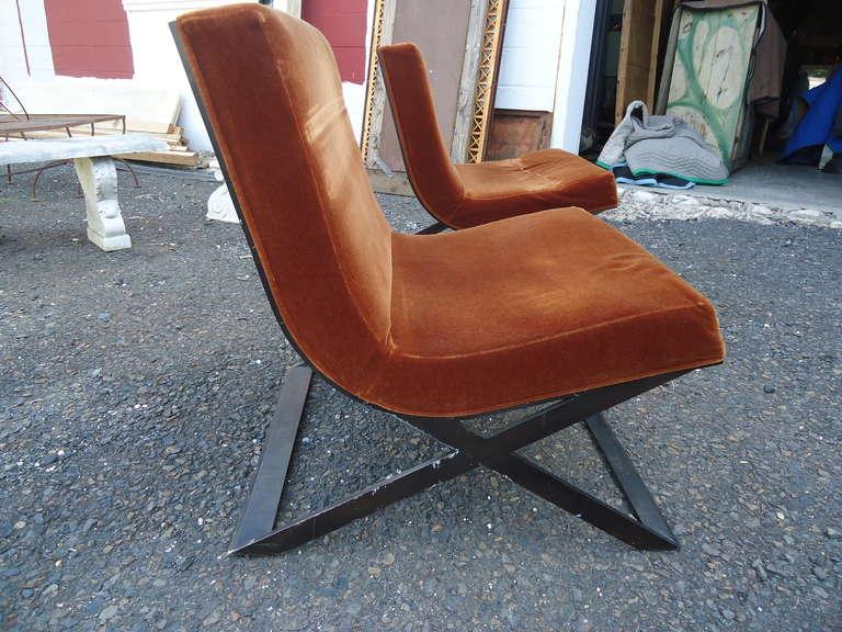 Pair Of Italian Mid Century Modern Club Chairs At 1stdibs
