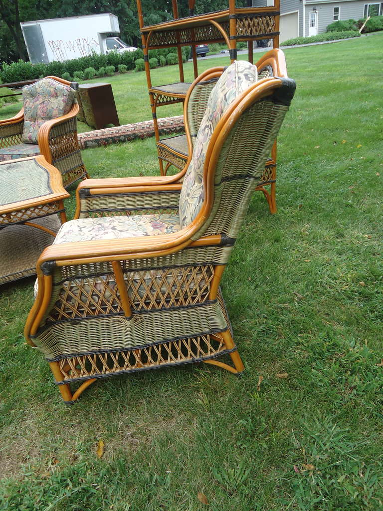 vintage grange rattan and wicker sunroom set at 1stdibs