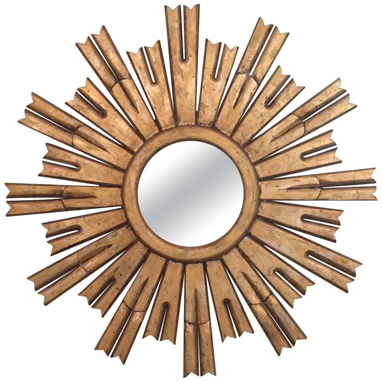 Giltwood Starburst Mirror at 1stdibs