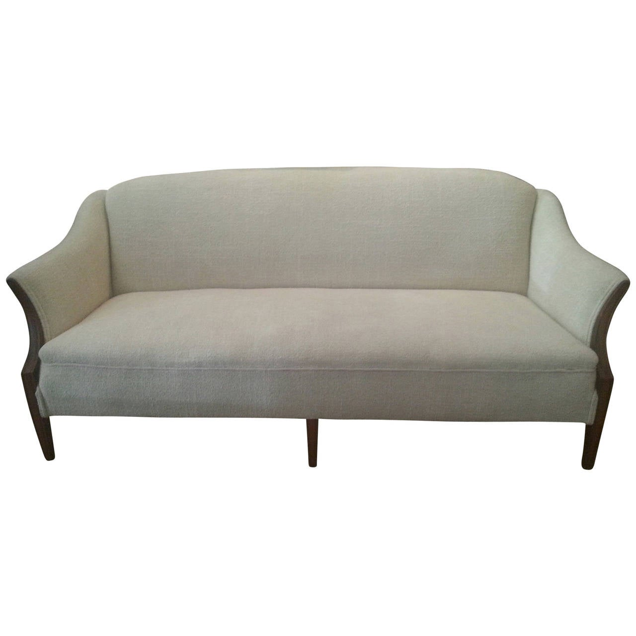 mid century modern sheraton style sofa at 1stdibs. Black Bedroom Furniture Sets. Home Design Ideas