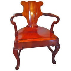 Two in One Antique George IV Library Chair and Steps