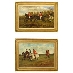 Pair of 19th Century English Horse Paintings
