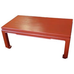Chinoiserie Cinnabar Coffee Table
