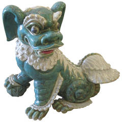 Large Vintage Ceramic Foo Dog