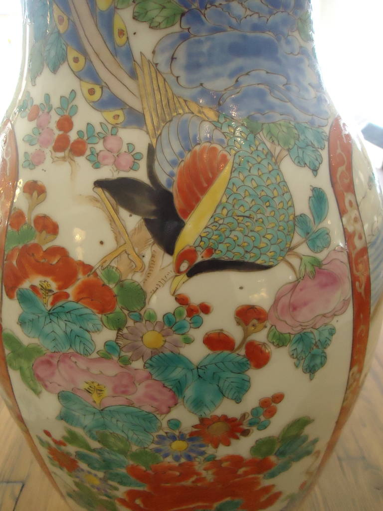 Pair of 19th Century Fukagawa Vases For Sale 1