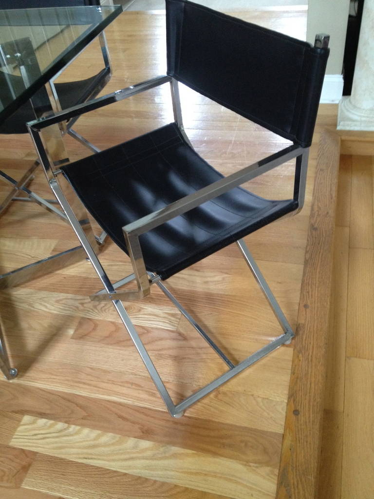 set of mid century modern square glass table and chairs at 1stdibs