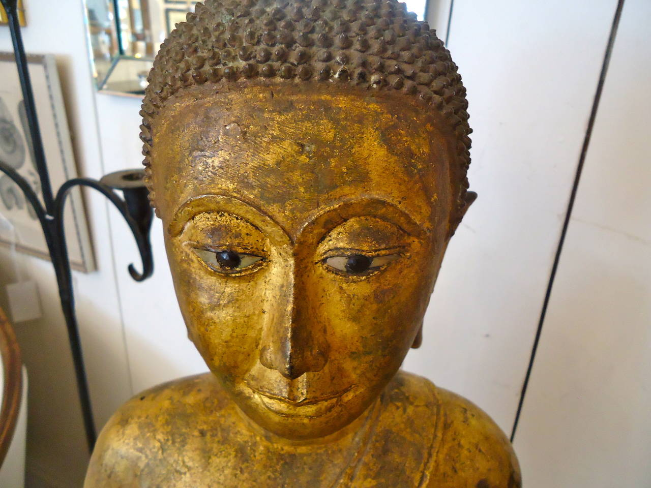 Magnificent Early 19th Century Bronze Thai Buddha Monk 4