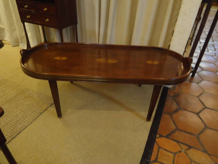 Campaign Style Mahogany Oblong Coffee Table 3