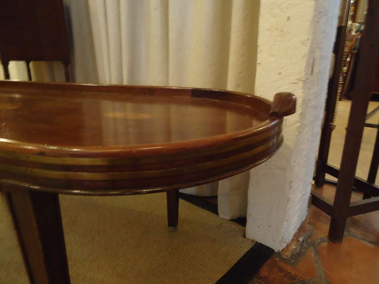 Campaign Style Mahogany Oblong Coffee Table 4