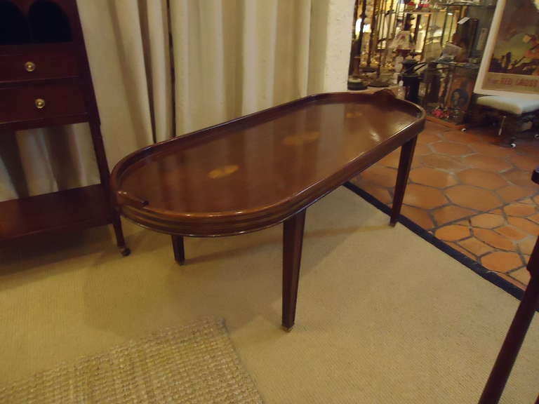 Campaign Style Mahogany Oblong Coffee Table 7
