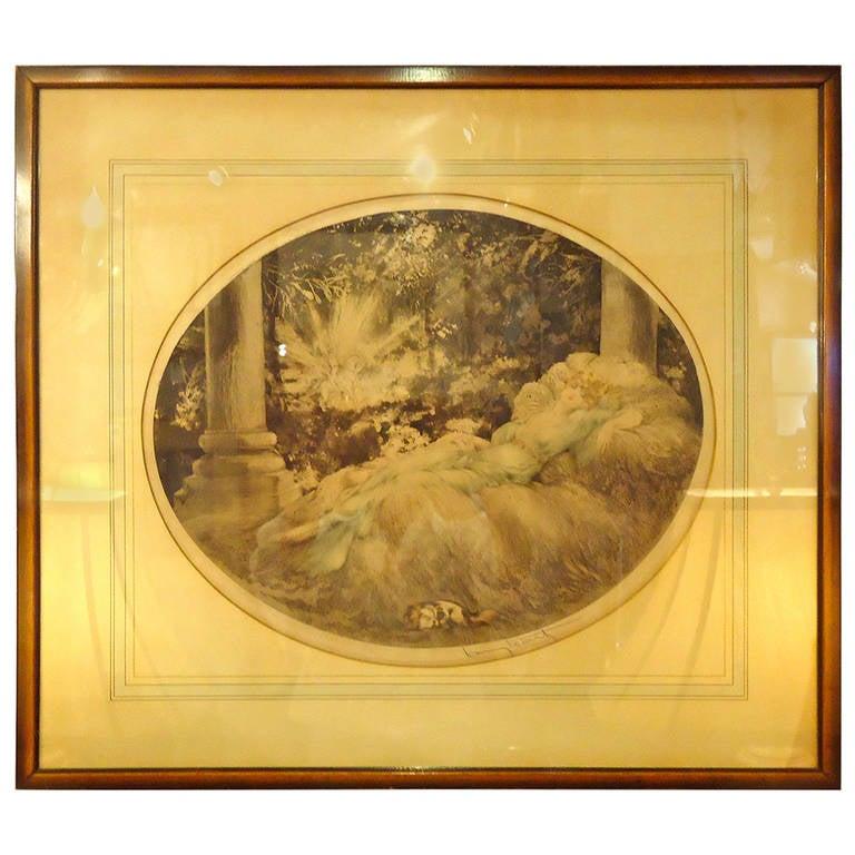 Romantic Louis Icart Artist Proof At 1stdibs