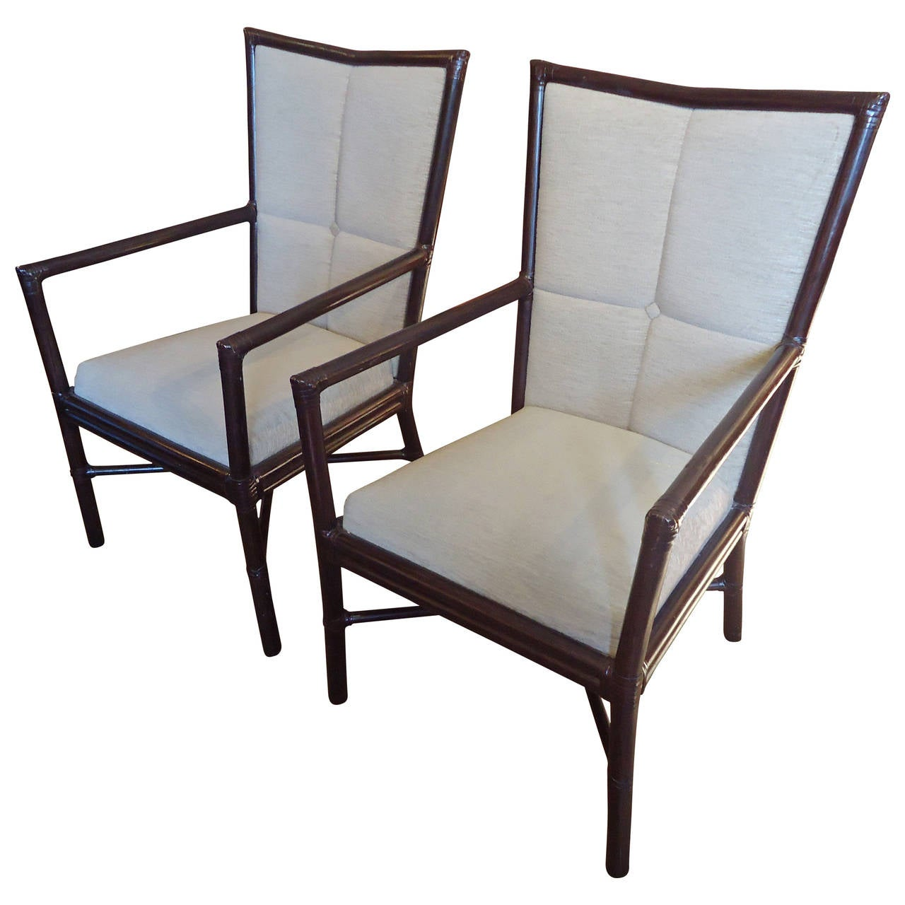 Pair of Barbara Barry Armchairs For Sale