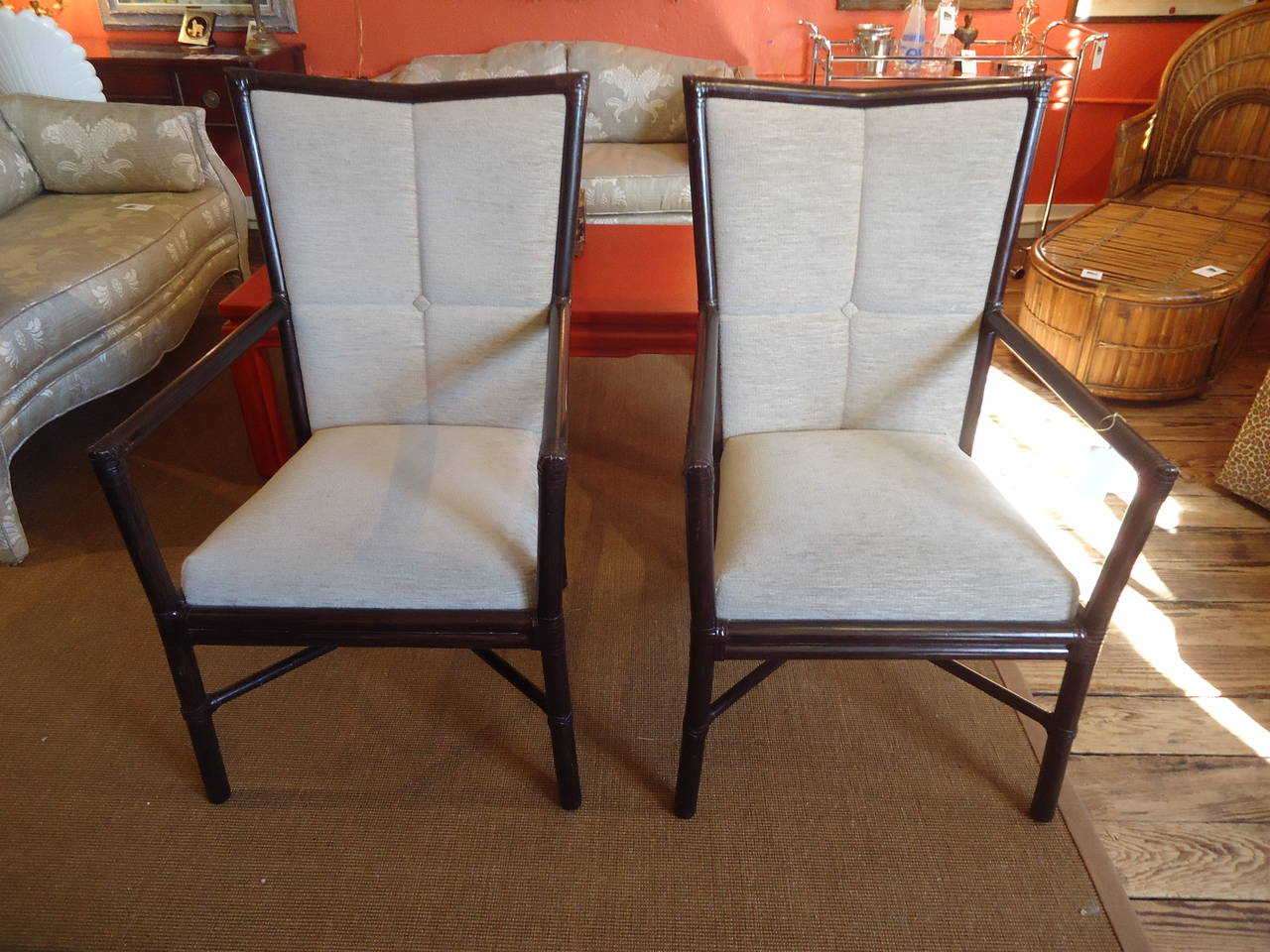 Pair of Barbara Barry Armchairs at 1stdibs