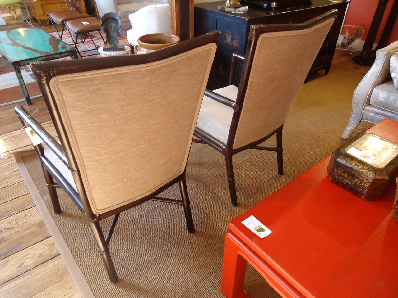 Pair of Barbara Barry Armchairs In Excellent Condition For Sale In Hopewell, NJ
