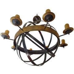 Niermann Weeks Iron and Gold Spherical Chandelier