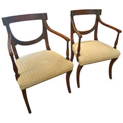Pair of Regency Antique Armchairs