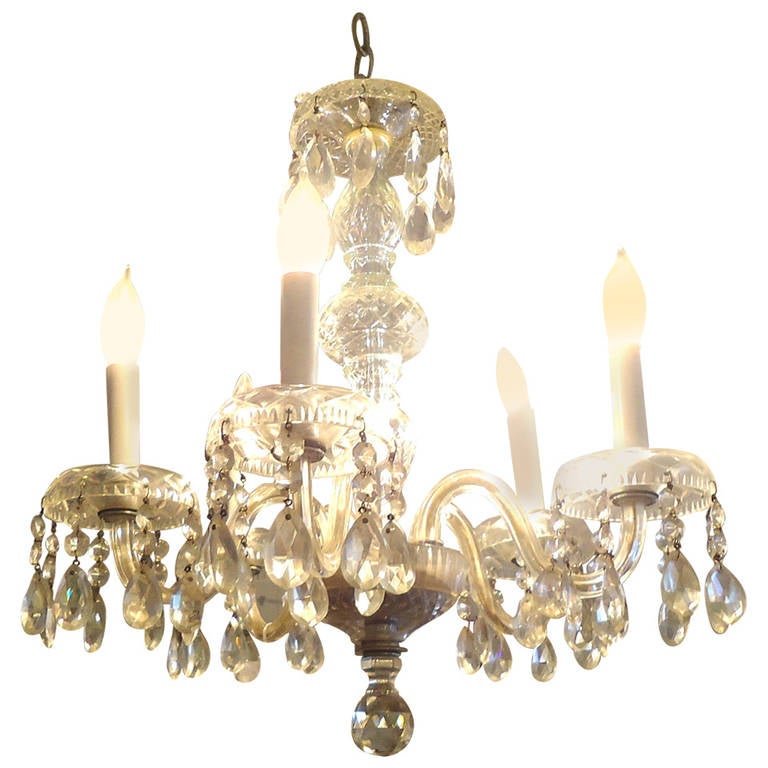 Charming Chandeliers That Make A Statement: Charming Antique Crystal Chandelier At 1stdibs