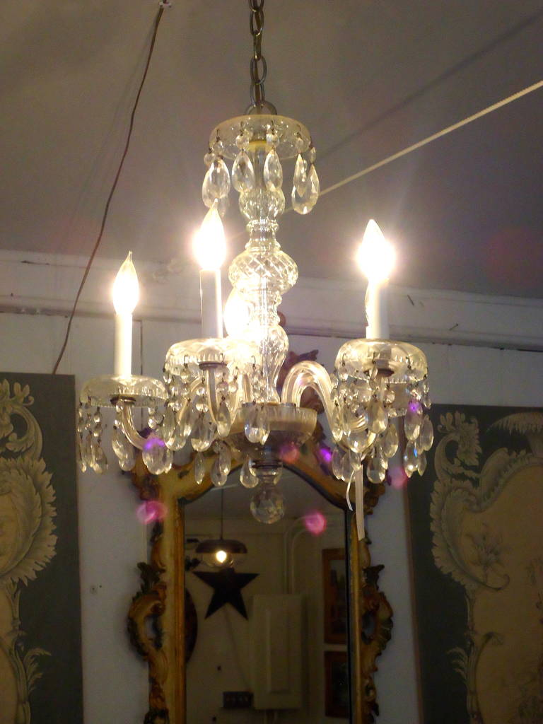 Charming Antique Crystal Chandelier At 1stdibs
