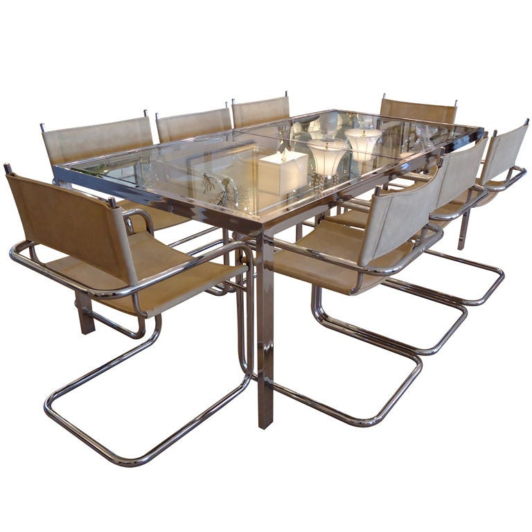 Milo Baughman Dining Table And Chairs At 1stdibs