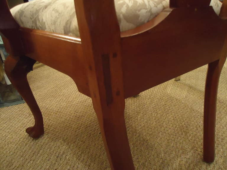 Set of Eight Vintage Queen Anne Style Dining Chairs Signed by Maker For Sale 2