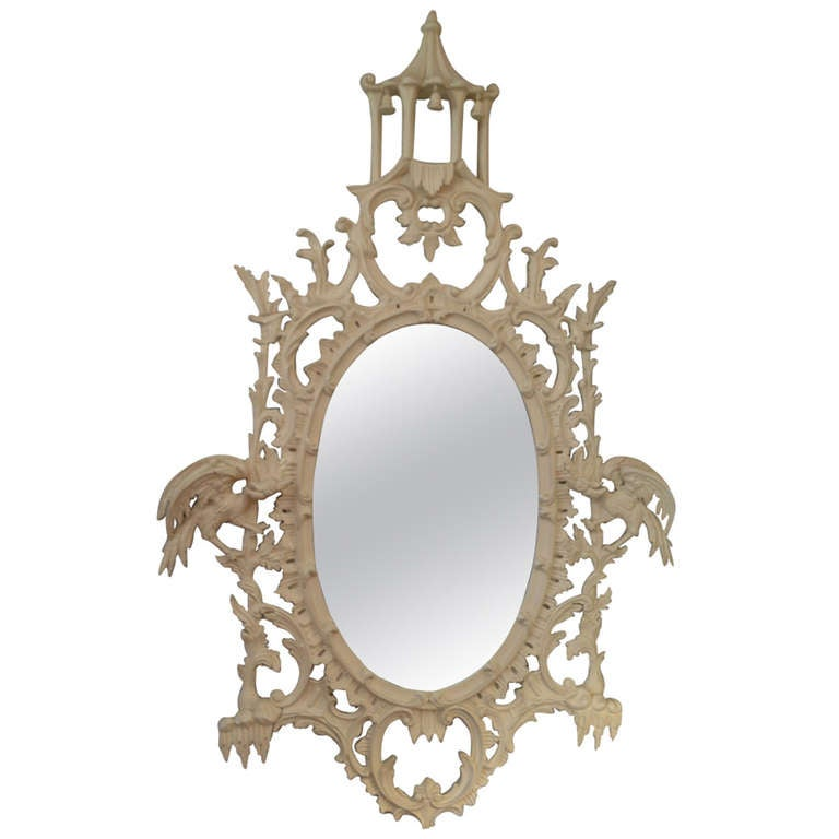 Vintage chinese chippendale style mirror at 1stdibs for Asian style mirror