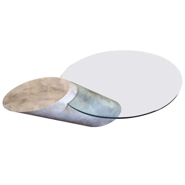 Karl Springer Faux Marble And Glass Coffee Table For Sale At 1stdibs