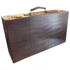 Luxurious Mark Cross Alligator Suitcase