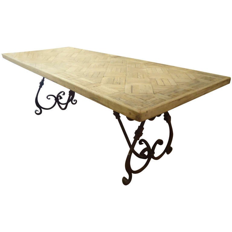 Wood And Wrought Iron Dining Tables