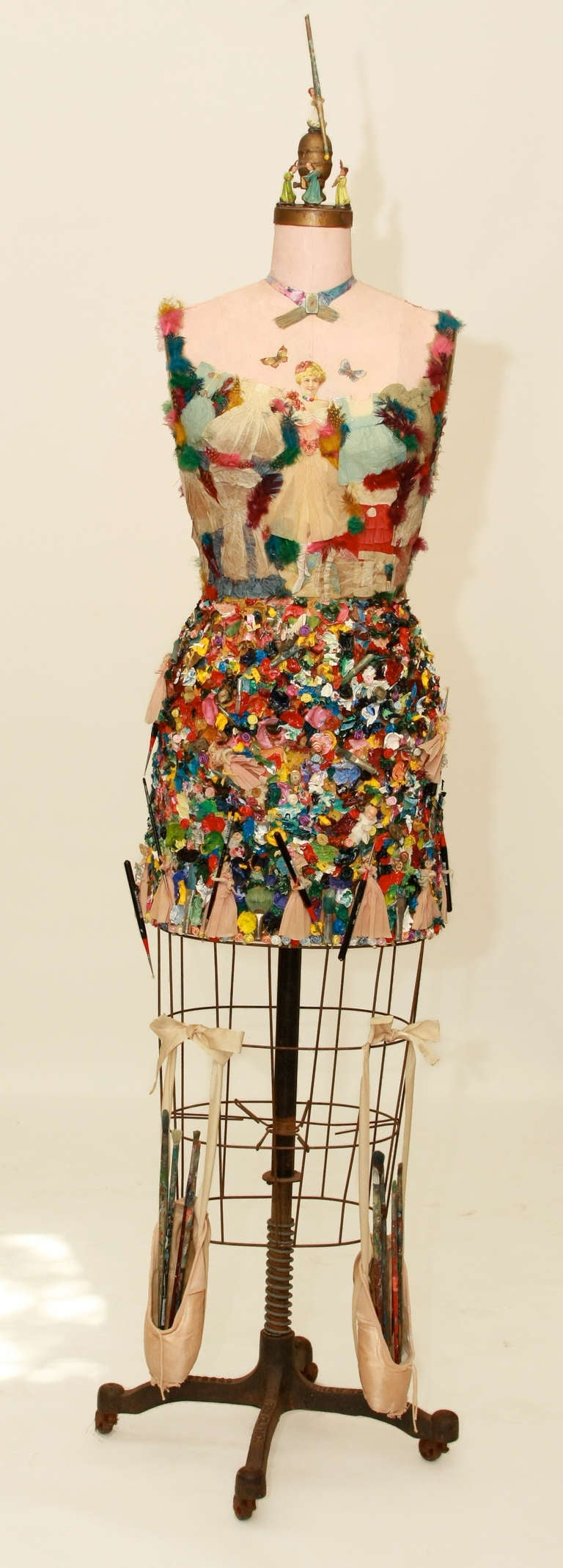 Mexican paper mache vintage judas sculpture folk art at 1stdibs - Mixed Media Vintage Dress Form Sculpture 2