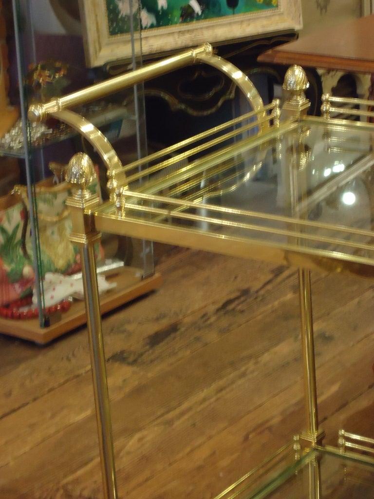 American Vintage Italian Brass Regency Style Tea Cart