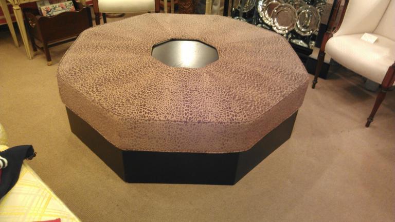 Very Large Octagonal Custom Upholstered Ottoman At 1stdibs
