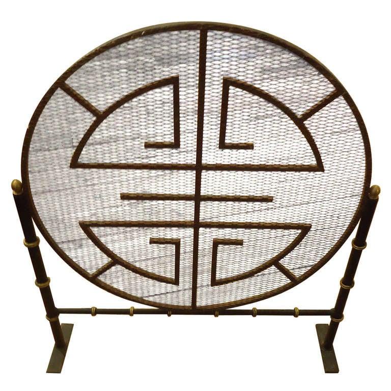 midcentury modern mandala motif fireplace screen at 1stdibs