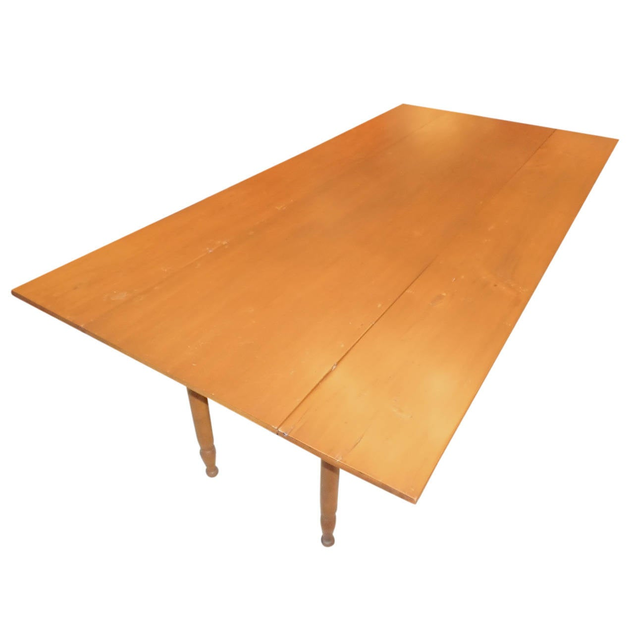 Pine And Maple Drop Leaf Farm Table At 1stdibs